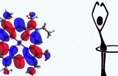 Watch atoms as they 'hula hoop' inside a molecule